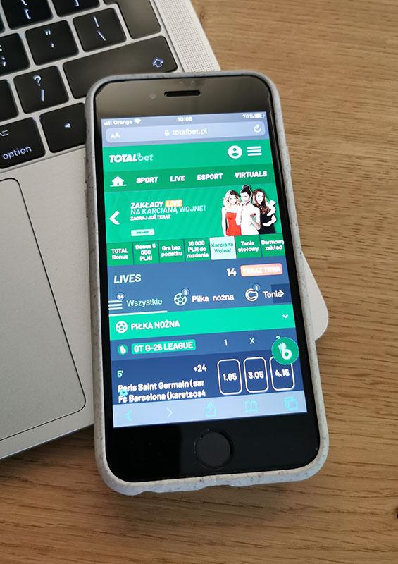 totalbet aplikacja mobilna